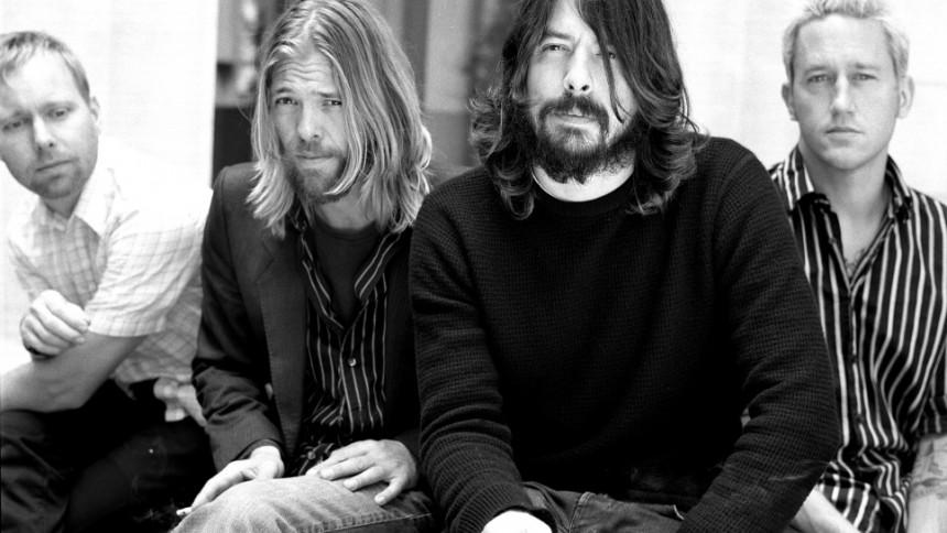 Foo Fighters i studiet med Nirvana-produceren Butch Vig
