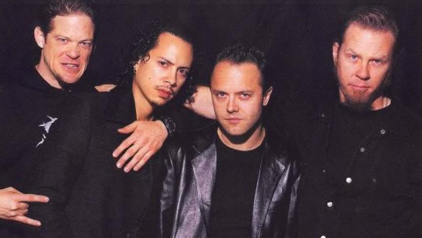 Metallica på scenen med både Jason og Rob