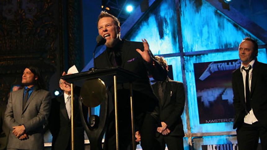 Metallica spillede som kvintet i Rock And Roll Hall Of Fame