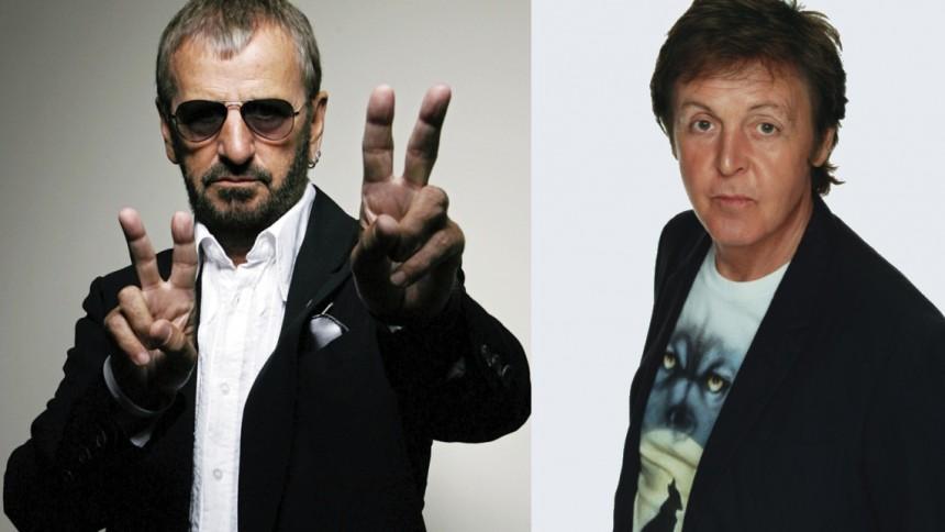 Paul McCartney og Ringo Starr optrådte sammen