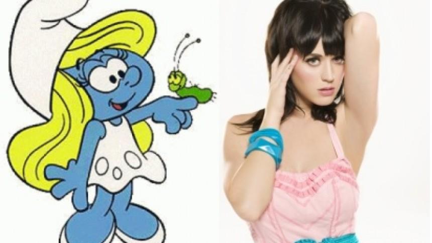 Katy Perry lægger stemme til Smølfine