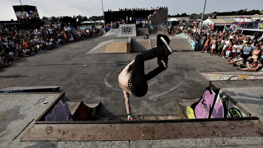 Skate Scenen byder på masser af underholdning