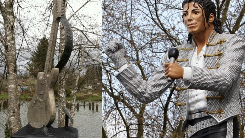 Kurt Cobain og Michael Jackson får statuer