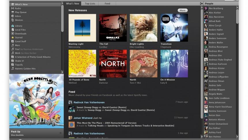 Spotify åbner i otte nye lande