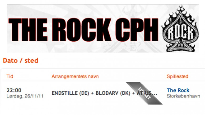 The Rock CPH er lukket