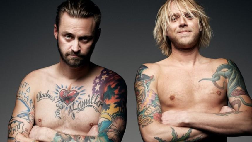 Jokeren og Felix Smith på scenen til Copenhagen Ink Festival