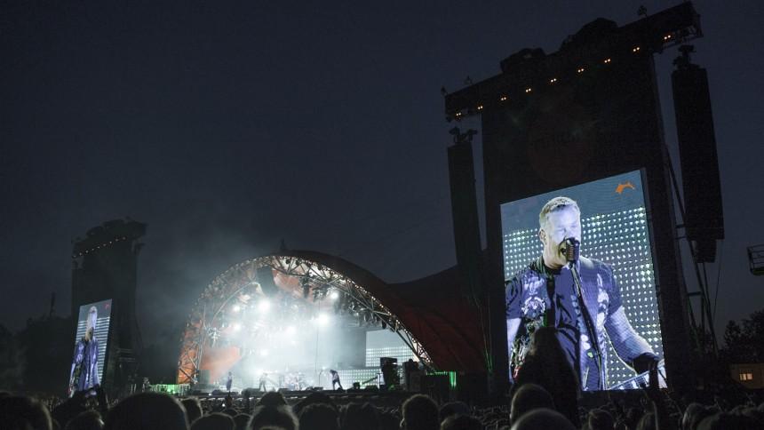 Metallica spiller på Antarktis