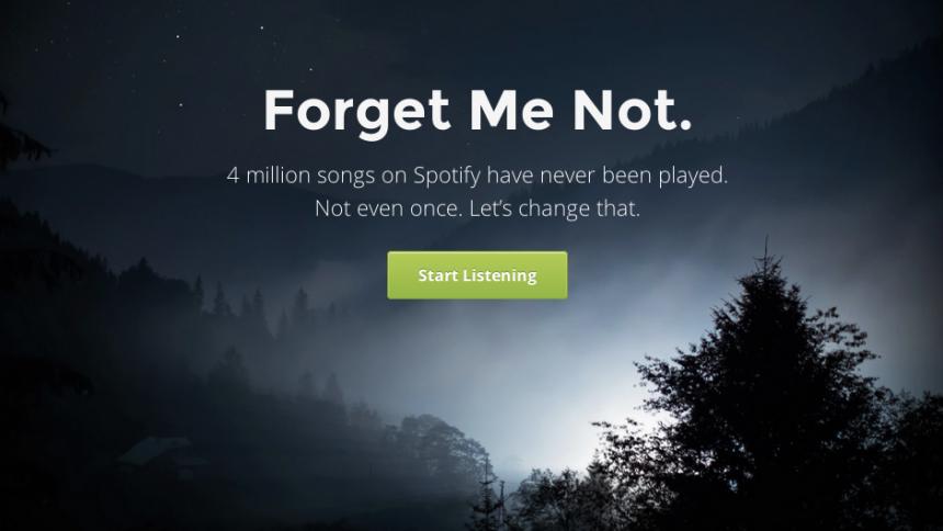 Fire millioner sange uden en eneste afspilning