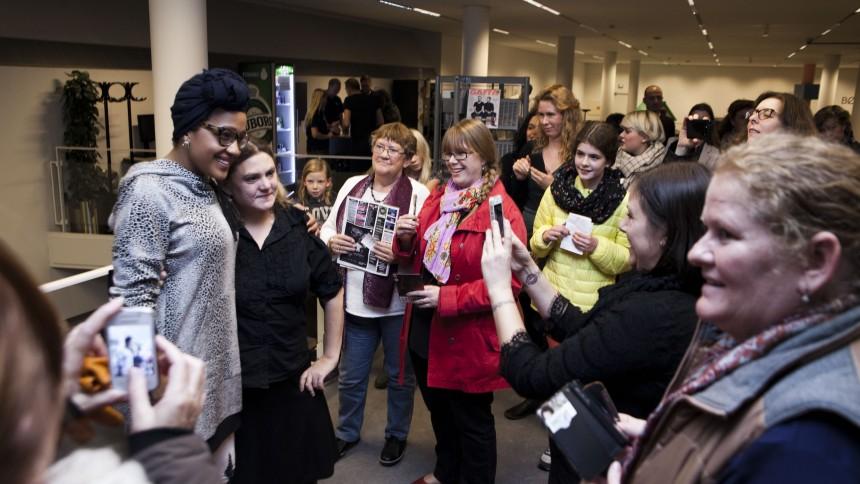 Fotoreportage: Barbara Moleko varmede til GAFFA Library Sessions