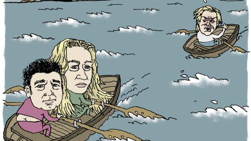 Fra arkivet: Se satiretegninger om Wig Wam Tour med mere