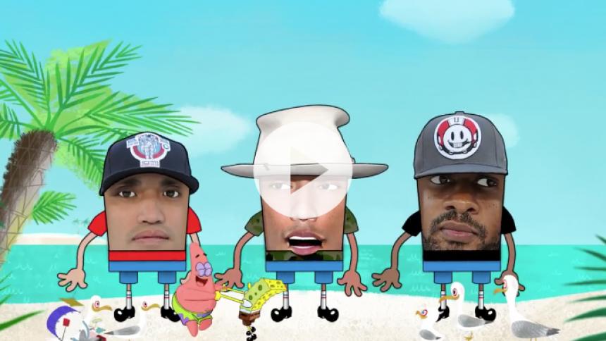 Se Pharrell og resten af N.E.R.D i ny SvampeBob Firkant-video