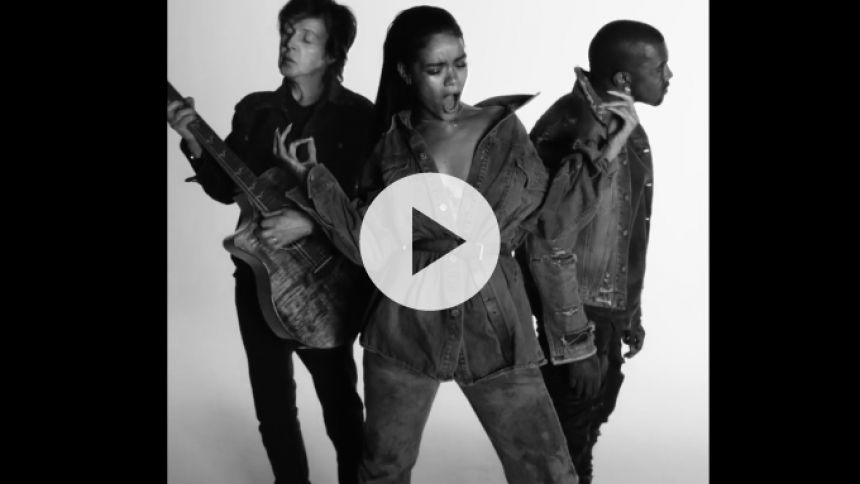 Se Paul McCartney og Kanye West i Rihannas nye musikvideo