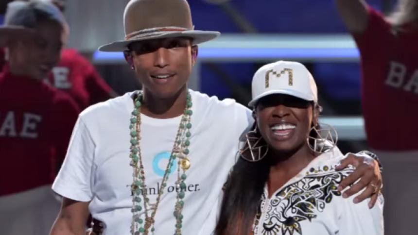 Missy Elliott går i studiet med Pharrell