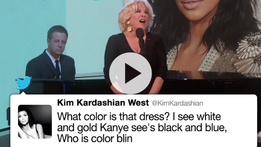 Se Bette Midler synge Kim Kardashian-tweets