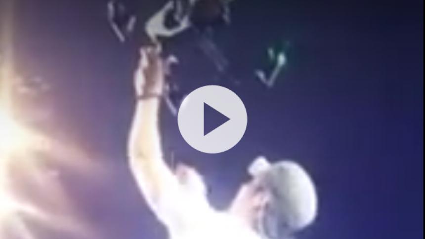 Enrique Iglesias pådrager sig skader efter forsøg på at gribe drone