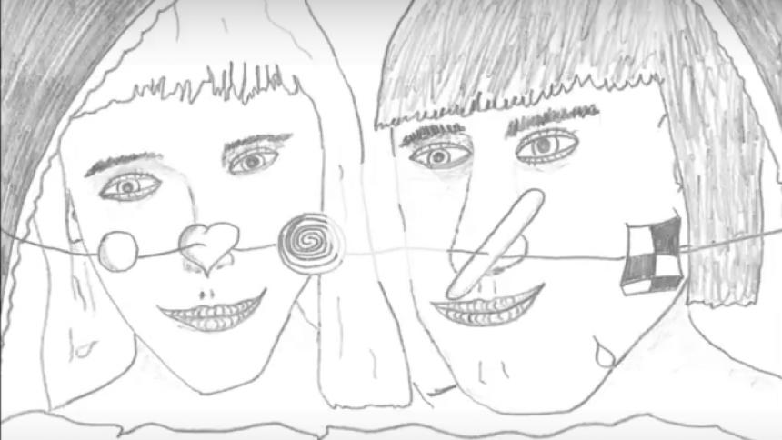 UFO springer ud som tegner i ny musikvideo