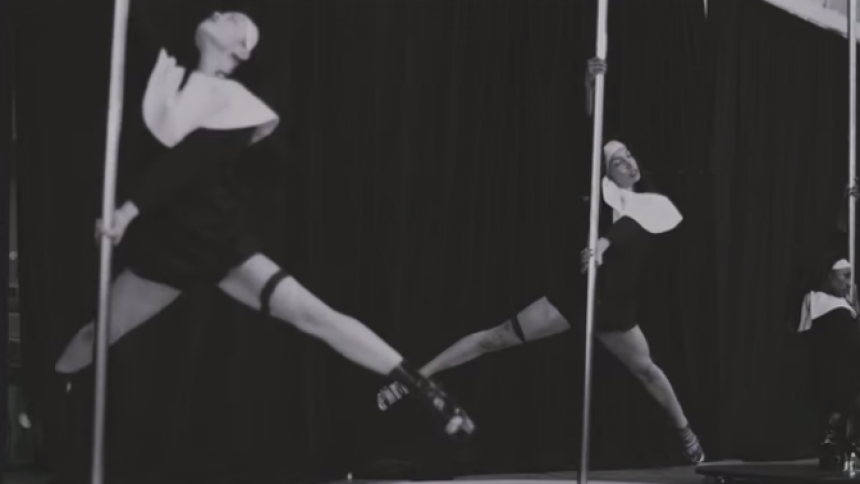 Madonna i øvelokalet: Nonner på stripperstang