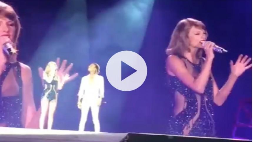 Se Taylor Swift tage Wiz Khalifa med på scenen