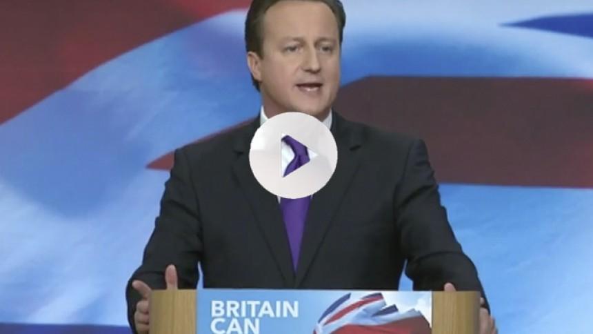 Se premierminister David Camerons morsomme grise-rap