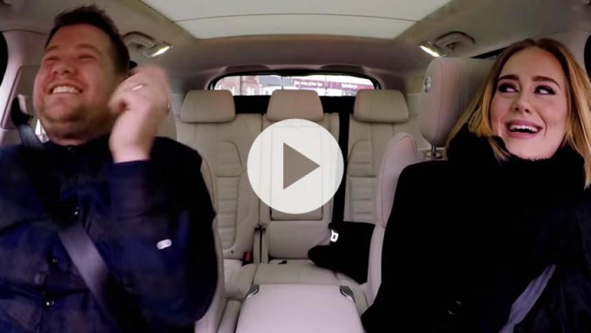 Video: Adele synger carpool karaoke med James Corden