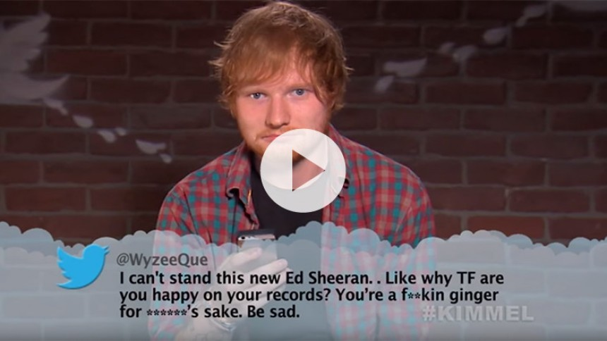Ed Sheeran, Drake og Wiz Khalifa læser Mean Tweets