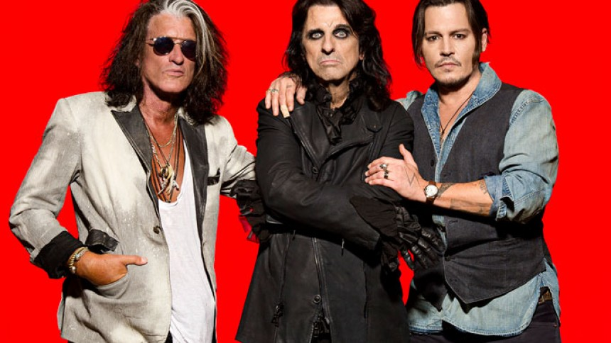 Johnny Depp, Alice Cooper og Joe Perry til Danmark
