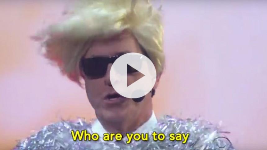 Se Stephen Colbert lave sjov med Eurovision Song Contest