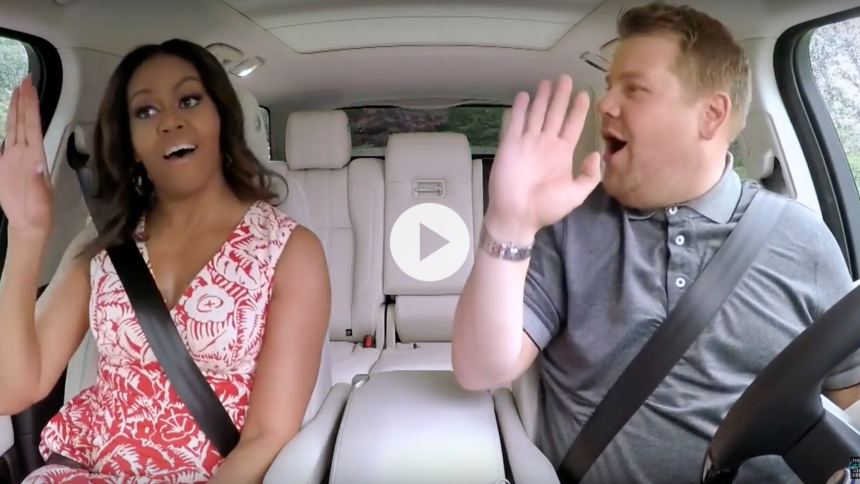 Se teaser: Michelle Obama synger Beyoncé i Carpool karaoke