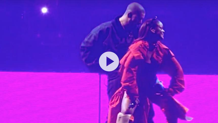 Se Drake og Rihanna optræde sammen i Toronto