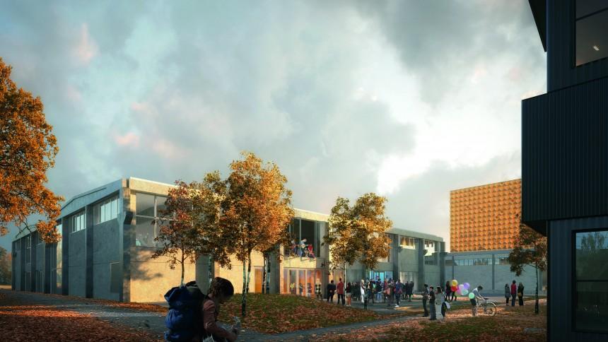 Roskilde Festival Højskole har taget første spadestik