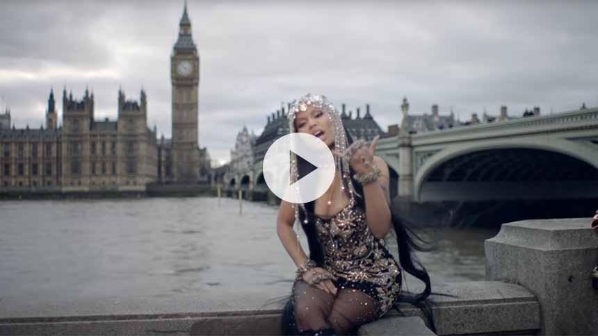 Westminster Bridge er ny stjerne i video fra Nicki Minaj –trods protester
