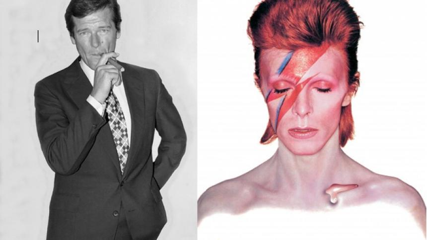 Bowie måtte gemme sig under bordet for at undgå Bond