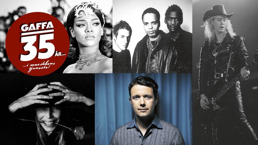Eksklusivt i GAFFA: Kronprinsen, Rihanna, Massive Attack, Guns 'N Roses og Mitchell