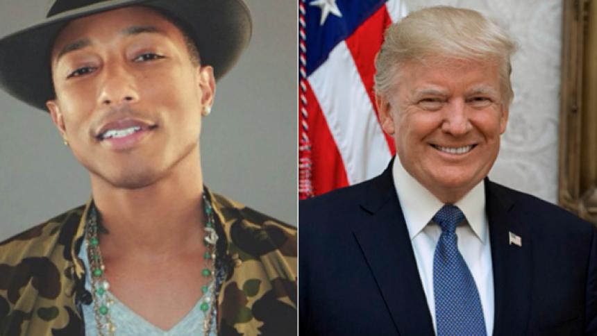 """Pharrell pudser advokat på Trump – spillede """"Happy"""" efter masseskyderi"""