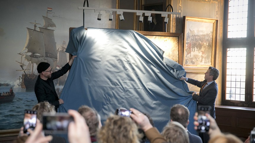 Kasper Eistrup maler portræt af Kronprins Frederik