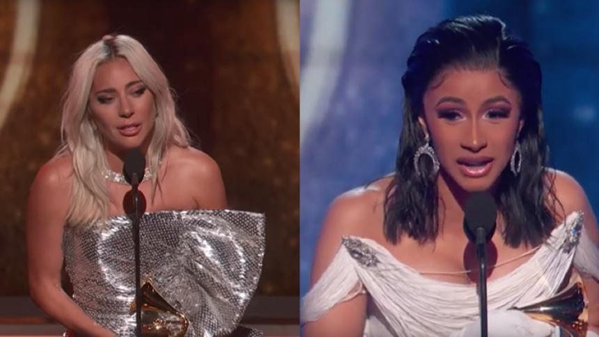 Lady Gaga forsvarer udskældt Cardi B efter Grammy-sejr