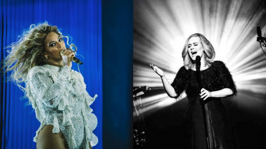 Adele og Beyoncé synger for første gang på samme sang