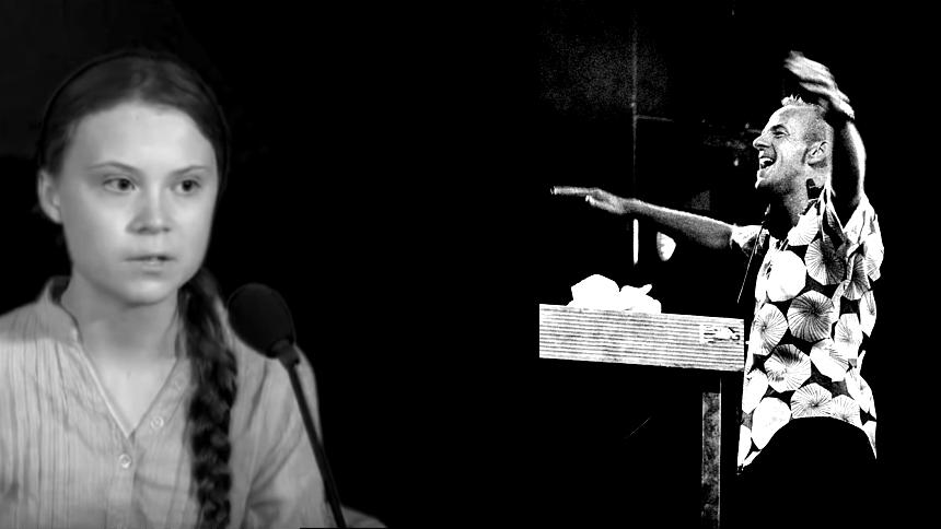 VIDEO: Fatboy Slim spiller Greta Thunberg-mashup under dj-sæt