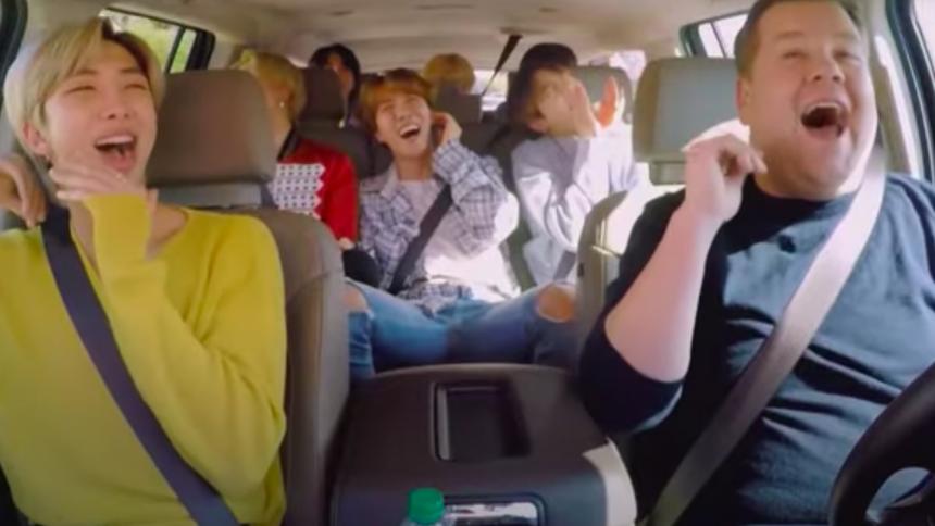 James Corden takker BTS for at støtte Black Lives Matter – ved at vise Carpool Karaoke-klip