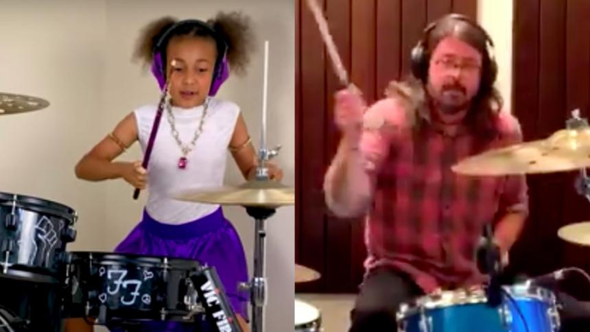 Runde 2: Dave Grohl skriver sang til den 10-årige trommeduellant