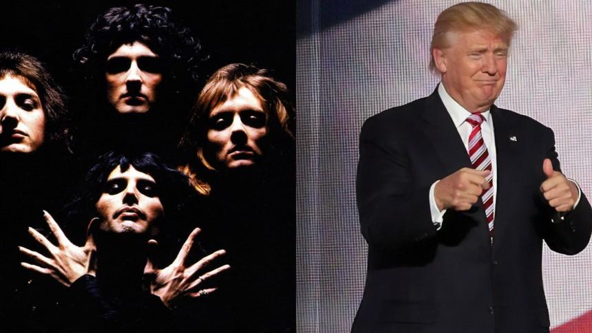 "SATIRE: Donald Trump siger farvel med ""Bohemian Rhapsody"""