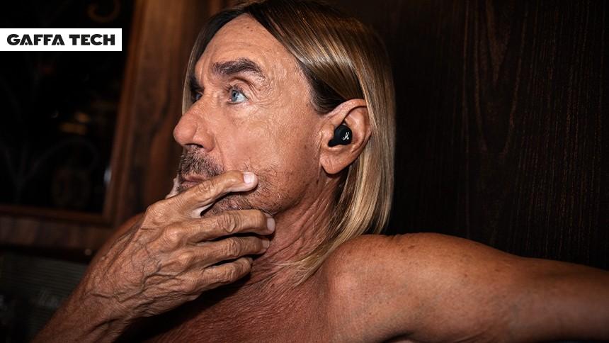 Iggy Pop fremviser headset bygget til høj musik