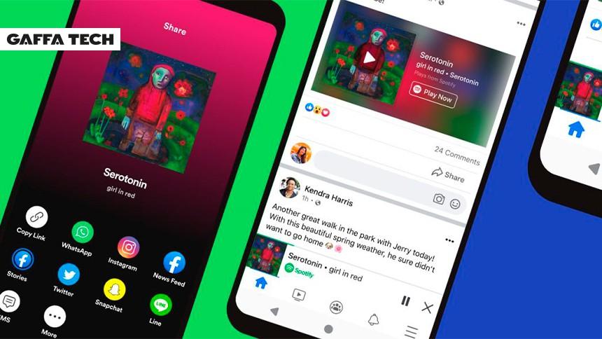 Nu kommer Spotify til Facebook
