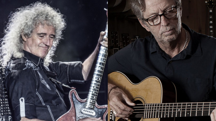 Brian May erklærer sig uenig med Eric Clapton – og kalder antivaxxers for båtnakker