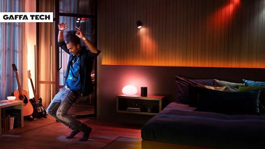 Nu blinker lyset i takt med musikken fra Spotify